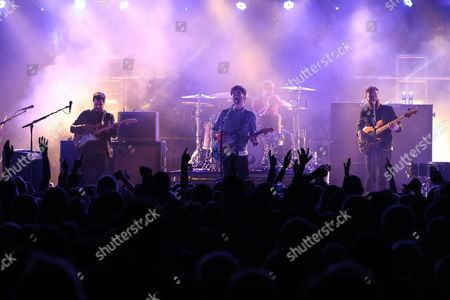 Twin Atlantic - Barry Mckenna (left), Sam McTrusty (2nd left) Craig Kneale (2nd right, drums) and Ross McNae (far right)