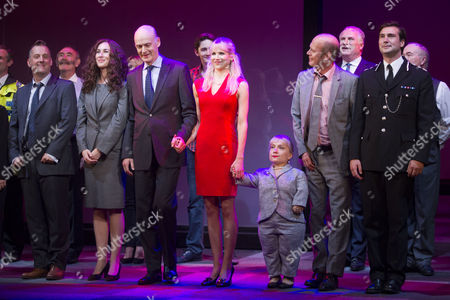 Editorial picture of 'Great Britain' play curtain call on Press Night, Theatre Royal Haymarket, London, Britain  - 26 Sep 2014
