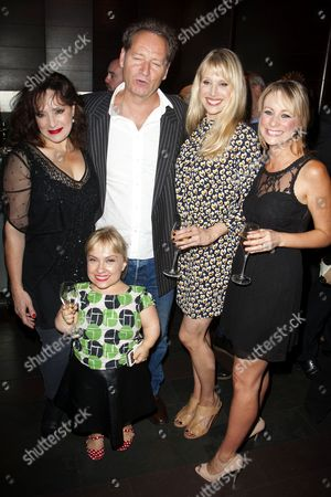 Harriet Thorpe (Nicola/Clarissa Kingston-Mills/Stella's Mum), Kiruna Stamell (Wendy Kilnkard), Richard Bean (Author), Lucy Punch (Paige Britain) and Kellie Shirley (Gemma Charles/Stella Stone)