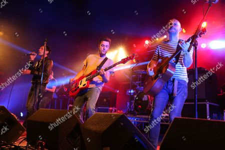 Shed Seven - Rick Witter (left), Tom Gladwin (centre) and Joe Johnson (right)