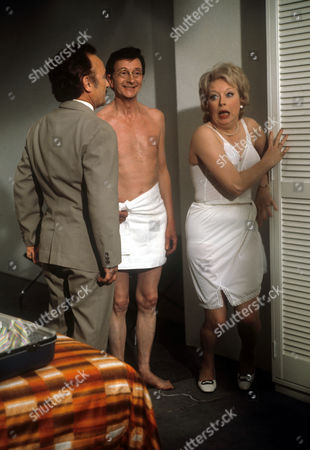 Stock Image of Kenneth Connor, Charles Hawtrey and June Whitfield