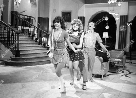 Sally Geeson, Carol Hawkins and Charles Hawtrey