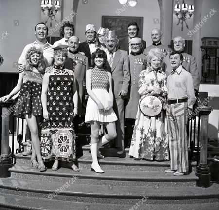 Cast Group Shot - Bernard Bresslaw, Ray Brooks, Peter Butterworth, Jimmy Logan, Carol Hawkins, Joan Sims, Sally Geeson, June Whitfield and Charles Hawtrey