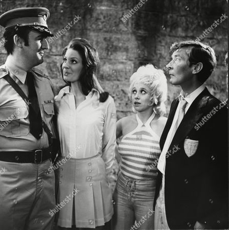 Stock Photo of Alan Curtis, Gail Grainger, Barbara Windsor and Kenneth Williams