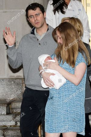 Marc Mezvinsky and Chelsea Clinton with daughter Charlotte Clinton Mezvinsky