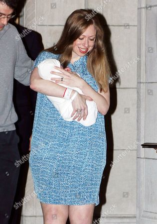 Chelsea Clinton with daughter Charlotte Clinton Mezvinsky