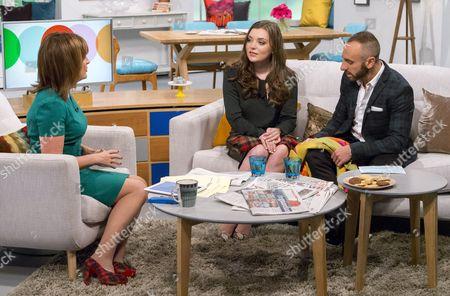Lorraine Kelly with Rosie Smith and Mark Heyes