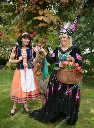 Stock Image of Lauren Stroud as Snow White and Linda Robson as the Wicked Queen