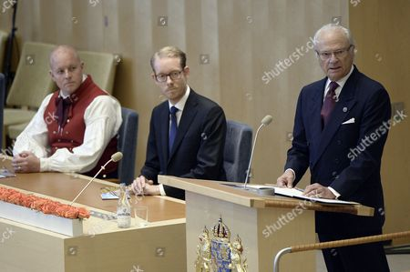Bjorn Soder and King Carl Gustaf