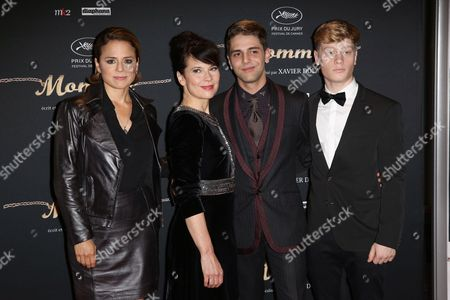 Suzanne Clement, Anne Dorval, director Xavier Dolan and actor Olivier Pilon