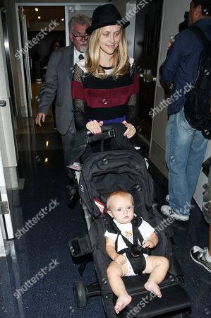 Editorial image of Teresa Palmer and son Bohdi arrive at LAX International Airport, Los Angeles, America - 30 Sep 2014