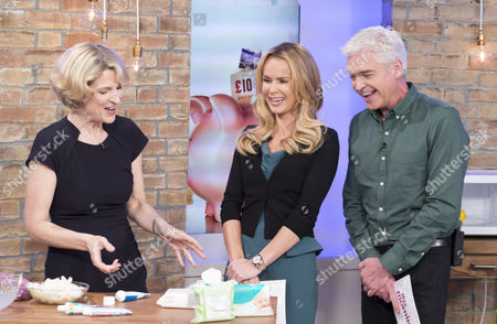 Jane Thynne with Amanda Holden and Phillip Schofield