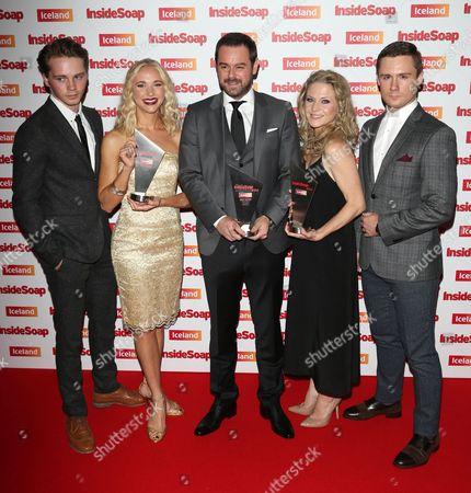 Stock Photo of Sam Strike, Maddy Hill, Danny Dyer, Kellie Bright, Danny-Boy Hatchard