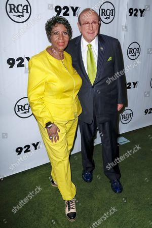 Aretha Franklin and Clive Davis
