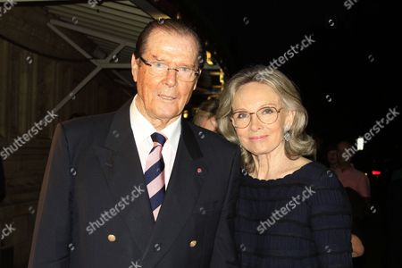 Stock Photo of Sir Roger Moore, Kristina Tholstrup
