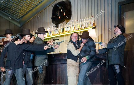 Graham Clark (Nick the barman)  and Nicholas Masters