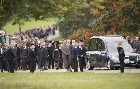 Editorial image of Funeral of The Dowager Duchess of Devonshire, Derbyshire, Britain - 02 Oct 2014