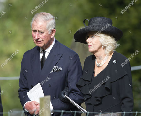Stock Photo of Prince Charles and Camilla Duchess of Cornwall