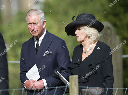 Editorial photo of Funeral of The Dowager Duchess of Devonshire, Derbyshire, Britain - 02 Oct 2014