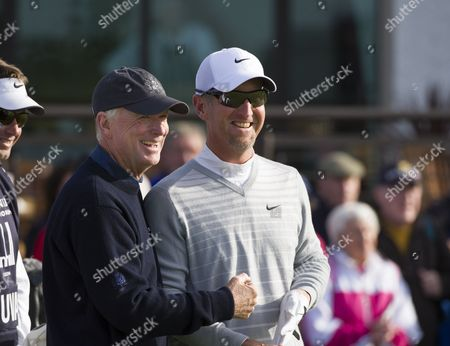 Stock Picture of Dan Quayle and David Duval