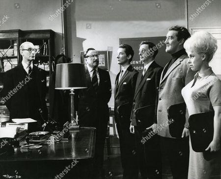 Richard Wattis, Eric Barker, Kenneth Williams, Charles Hawtrey, Bernard Cribbins and Barbara Windsor
