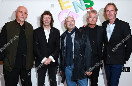 Genesis - Phil Collins, Peter Gabriel, Tony Banks, Steve Hackett, Mike Rutherford