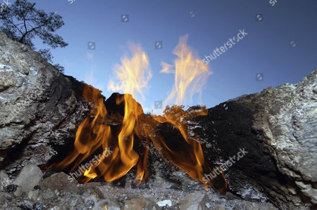 Burning gas vents, Chimeras, Mount Chimaera, Lycia, Turkey