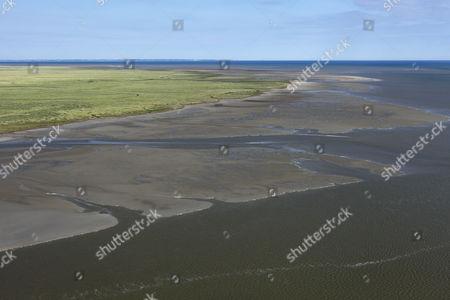 Wadden sea, view from Mont Saint-Michel, Mont Saint-Michel, Departément Manche, Lower Normandy, France