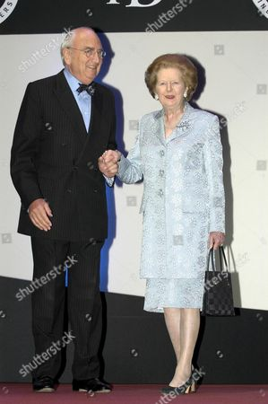 BARONESS MARGARET THATCHER WITH LORD YOUNG OF GRAFFHAM