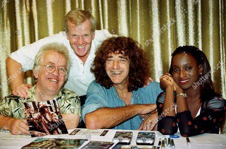 (L-R) JOHN CHAPMAN, JEREMY BULLOCH, PETER MAYHEW AND FEMI TAYLOR