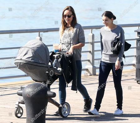 Olivia Wilde and friend with baby Otis Sudeikis