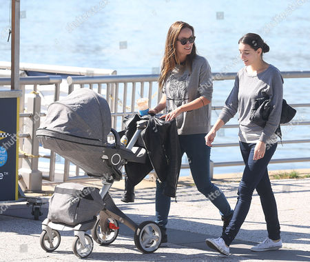 Editorial image of Olivia Wilde and baby Otis Alexander Sudeikis out and about, New York, America - 03 Oct 2014
