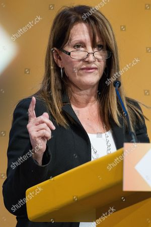 Lynne Featherstone MP, Junior Minister with responsibility for International Development, addresses the conference.