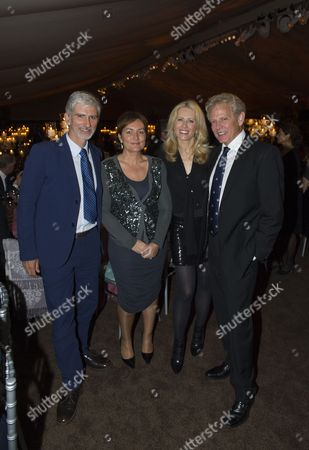 Stock Picture of Damon Hill and Georgie Hill, Kathrin Nicholson and Don Felder