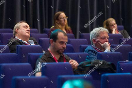 Delegates sleep in the audience as Steve Webb speaks