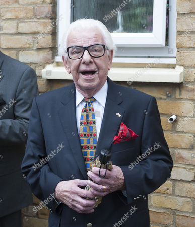 Stock Picture of Barry Cryer Attending The Unveiling Of A Blue Plaque For Former Comedian Danny La Rue At Brinsworth House In Twickenham. 22.9.13.