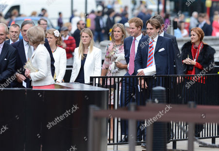 Stock Image of Prince Harry Attends The Wedding Of Alexander Fellowes And Alexandra Finlay At The Chapel Of St mary Undercroft House Of Parliament Followed By A Reception At Claridge's London    20 09 13