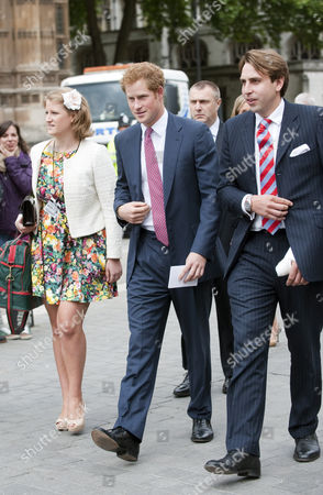 Editorial photo of Prince Harry Attends The Wedding Of Alexander Fellowes And Alexandra Finlay At The Chapel Of St.mary Undercroft House Of Parliament Followed By A Reception At Claridge's London Picture - Mark Large ... 20.09.13.