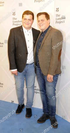 Stock Picture of Guests At The Opening Of The Big Brother House For The National Trust.bb Jack And Joe Glenny.