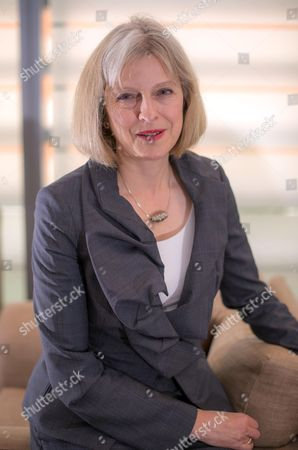 Home Secretary Theresa May At The Home Office Westminster In London; Interview With James Slack And James Chapman.