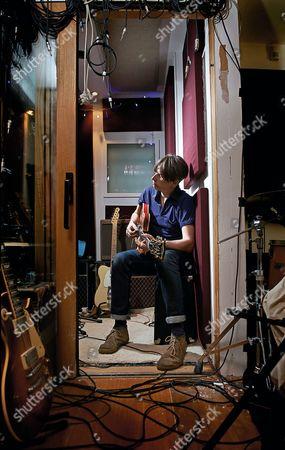London United Kingdom - December 16: Portrait Of English Rock Musician Bernard Butler Photographed In His North London Studio On December 16