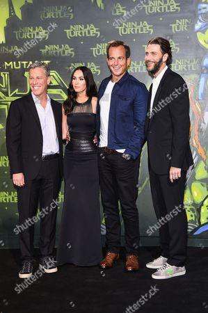 Will Arnett, Megan Fox, Andrew Form and Bradley Fuller