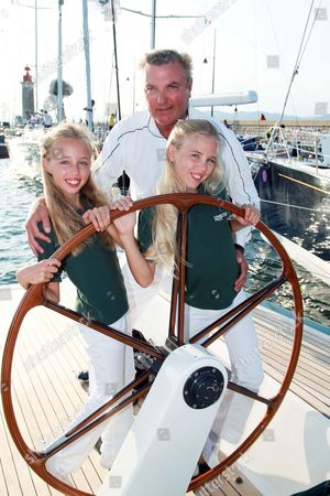 Prince Carlo of Bourbon-Two Sicilies with his daughters Princess Maria Carolina and Princess Maria Chiara