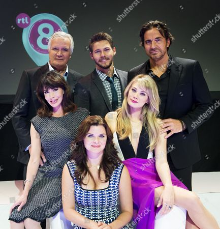 Heather Tom (Katie Logan), Hunter Tylo (Dr. Taylor Hayes) Kim Matula (Hope Logan), Thorsten Kaye (Ridge Forrester) Scott Clifton (Liam Spencer) John McCook (Eric Forrester) and Anouk Smulders