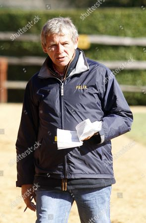 Charlie Gordon-Watson inspects yearlings at Tattersalls sales paddocks ahead of the October Yearling Sale Book 1 Newmarket