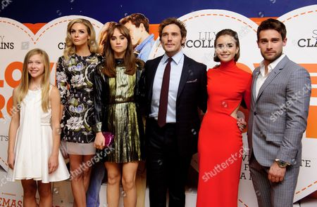 Lily Laight, Tamsin Egerton, Suki Waterhouse, Sam Claflin, Lily Collins and Christian Cooke