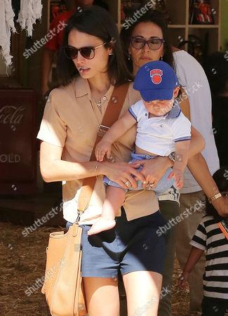 Jordana Brewster with son Julian Brewster-Form