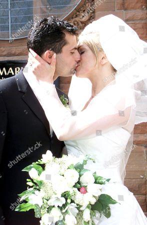 SIMONE LAHBIB KISSING NEW HUSBAND RAFFAELLO DEGRUTTOLA.