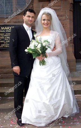 SIMONE LAHBIB WITH NEW HUSBAND RAFFAELLO DEGRUTTOLA