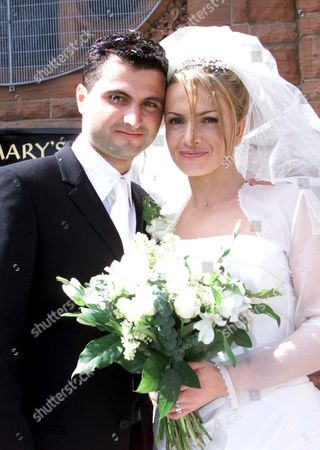 Editorial image of SCOTTISH ACTRESS SIMONE LAHBIB MARRYING IN ST MARY'S CHURCH IN STIRLING, SCOTLAND, BRITAIN - 10 MAY 2003